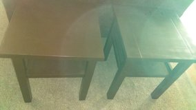 Two brown real wood tables in Lawton, Oklahoma
