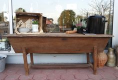 rustic bread baking table over 100 years old in Baumholder, GE