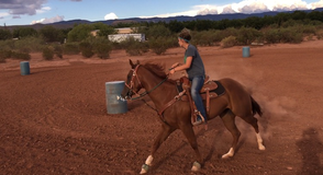3 year old filly started on barrels in Alamogordo, New Mexico