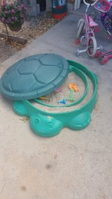 Turtle sandbox in Fort Carson, Colorado