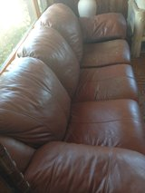 Brown Leather Sleeper Sofa - Couch in 29 Palms, California
