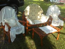 Woodland bentwood twig settee - patio / shabby outdoor / porch / deck furniture set in Camp Lejeune, North Carolina