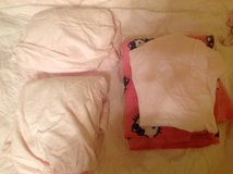 Toddler bed or crib sheets set of three + hello kitty  blanket in Kingwood, Texas