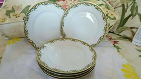 8 Charming Perfect Luncheon Plates Antique Early 1900s MARKED LIMOGES FRANCE in Beaufort, South Carolina