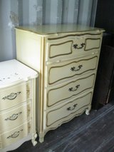 Cream & Gold 4 Drawer French Provincial Chest - 20% off in Camp Lejeune, North Carolina