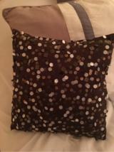 Small Sequined Throw Pillow -Mocha Brown in Chicago, Illinois