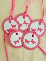 12 Butterfly Gift Tags Handmade in Ramstein, Germany