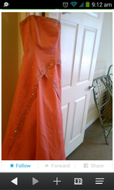 Size 7/8 Orange Ball Gown or Prom Dress. in Beaufort, South Carolina