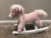 Pink rocking horse in Naperville, Illinois