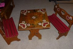 Kids Wooden Table and Benches Set - $50.00 in Spring, Texas