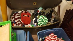 Two extra large totes baby boy clothes, shoes, receiving blankets, jackets in Philadelphia, Pennsylvania