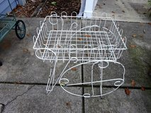 White Outdoor Garden Cart in Bartlett, Illinois