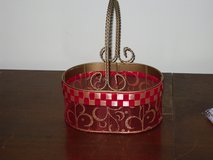 gold/red wire basket in Naperville, Illinois