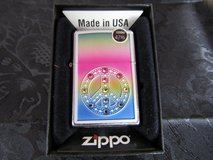 NIB Full size Zippo Lighter PEACE SIGN retails 47.95 in Beaufort, South Carolina