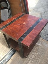 Rustic looking table in 29 Palms, California