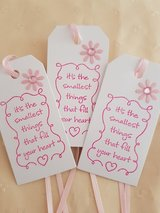 10 Baby Shower Gift Tags Handmade in Ramstein, Germany