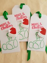 SALE - 6 Christmas Gift Tags Handmade in Ramstein, Germany