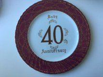 40 years ruby wedding anniversary plate in Great Lakes, Illinois