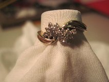 VINTAGE 14K GOLD VICTOREAN LACE DIAMOND RING SIZE 6.5 in Hinesville, Georgia