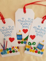 4 Gift Tags Handmade in Ramstein, Germany