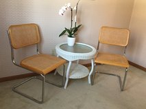 Synthetic Rattan/Chrome Accent Chairs in Chicago, Illinois