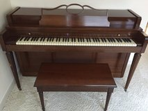 Howard Spinet Piano with Matching Bench in Cherry Point, North Carolina