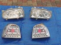 In-Pro Golf IV Angel-Eye headlights and rear LED tail lights for Golf III in Baumholder, GE