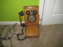 VINTAGE WOODEN WALL PHONE (REPRODUCTION) in Cherry Point, North Carolina