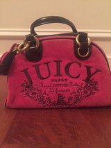Juicy Couture pink/brown velvet satchel shoulder bag in Quantico, Virginia