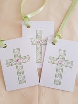 Handmade 10 Folded Cross Gift Tags in Ramstein, Germany