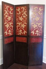 Master Piece Hand-carved 3 Panel Room Divider in Cary, North Carolina