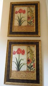 Beautiful Lily Framed Artwork (set of 2) in Cary, North Carolina