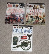 Lot of 3 DK Eyewitness Books Homeschool Research Civil War American Revolution Wild West in Morris, Illinois