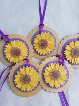 Sunflower Gift Tags Handmade 12 Available in Ramstein, Germany