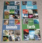 Lot of 4 Encyclopedia Britannica Hard Cover Book Dinosaurs Reptiles Birds SpaceAnimals Earth in Yorkville, Illinois