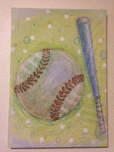 Baseball Canvas Wall Art, Hobby Lobby in Fort Campbell, Kentucky