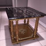 Table: Black Marble Made in Italy in Aurora, Illinois