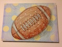 Football Canvas Wall Art, Hobby Lobby in Fort Campbell, Kentucky