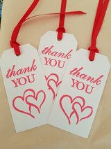 9 Large Thank You  Gift Tags Handmade in Ramstein, Germany
