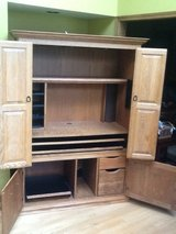 Computer Hutch-solid wood in Aurora, Illinois