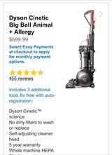 Dyson Cinetic Big Ball Animal + Allergy in Hinesville, Georgia