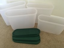Tupperware 4 square Modular Mates containers with lids in Beaufort, South Carolina