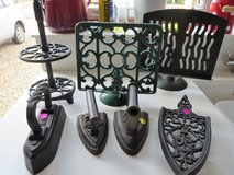 Vintage cast  iron collector trivets, recipe book holders in Lakenheath, UK