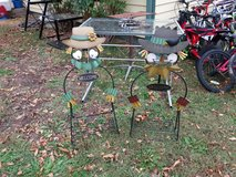 Two fall flower stands in Fort Riley, Kansas