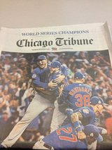 11/3 November 3 Chicago Tribune World Series ISSUE CHICAGO CUBS in Naperville, Illinois
