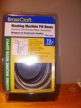 BrassCraft 2-Pack 6-ft Stainless Steel Washing Machine Hoses NIB in Clarksville, Tennessee