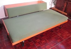 Mid Century Sleep Couch or Guest Bed with Storage Compartment in Ramstein, Germany