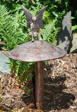 fairy sitting on mushroom garden ornament ....NEW in Lakenheath, UK