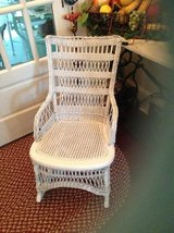 Antique lady's wicker rocker in Beaufort, South Carolina