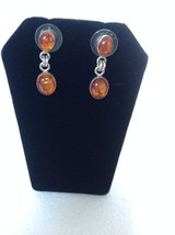 New! Sterling Silver 925 Amber Earrings in Fort Campbell, Kentucky